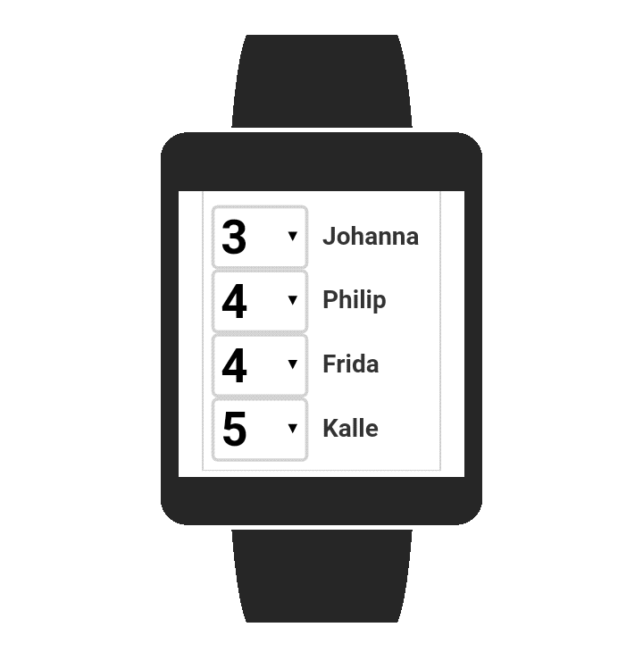 Golf Scores Smartwatch